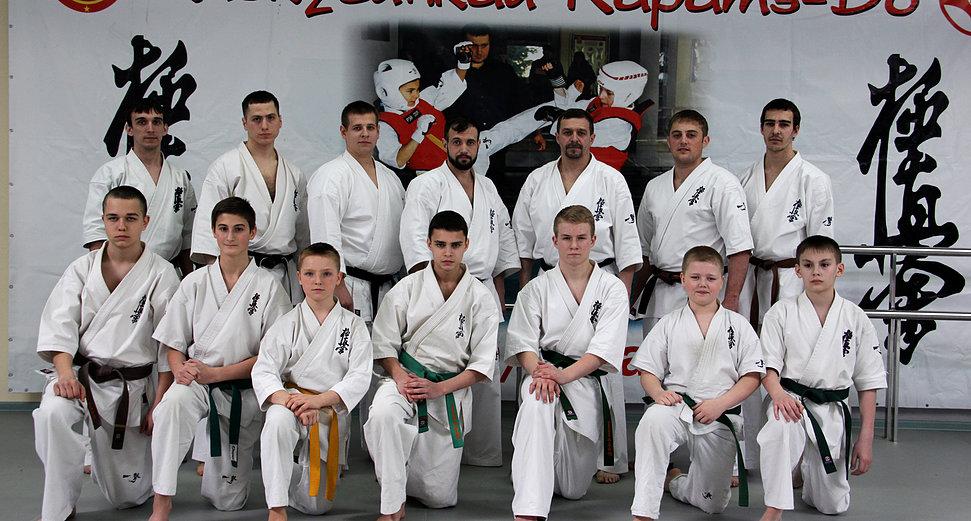 Тренеры и ученики Орловской областной федерации киокусинкай в Орле